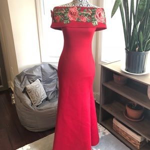 Red dress/gown!